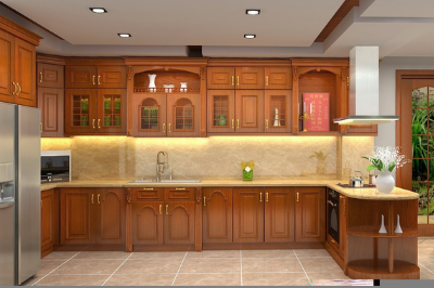 Tủ bếp gỗ dổi - PD12