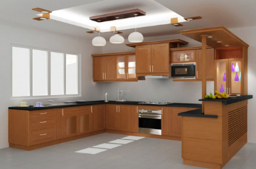 Tủ bếp gỗ Xoan đào - PD19