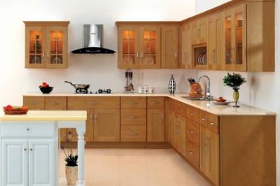 Tủ bếp gỗ Xoan đào - PD55