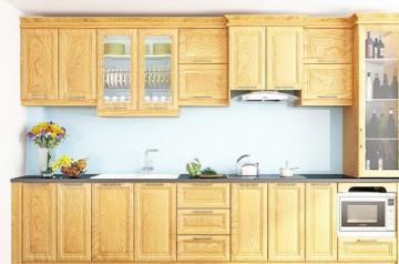 Tủ bếp gỗ Sồi Nga - PD20