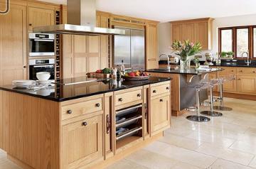 Tủ bếp gỗ Sồi Nga - PD41