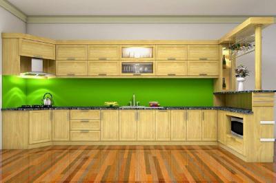Tủ bếp gỗ Sồi Mỹ - PD12