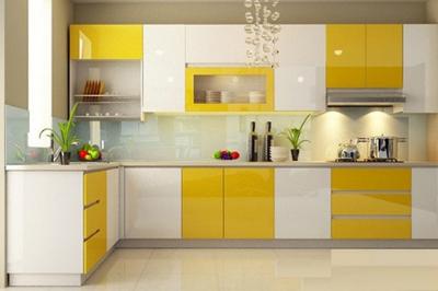 Tủ bếp Acrylic An Cường - PD13