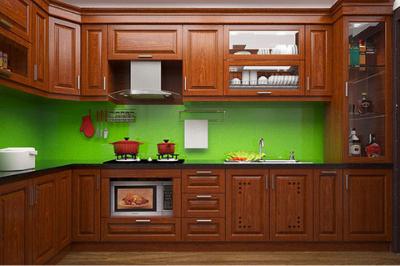 Tủ bếp gỗ Xoan đào - PD56