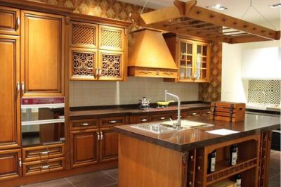Tủ bếp gỗ dổi - PD14