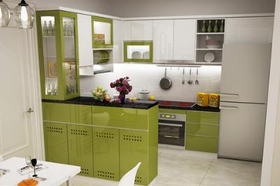 Tủ bếp Acrylic An Cường - PD14