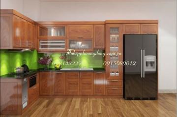 Tủ bếp gỗ Sồi Nga - PD42