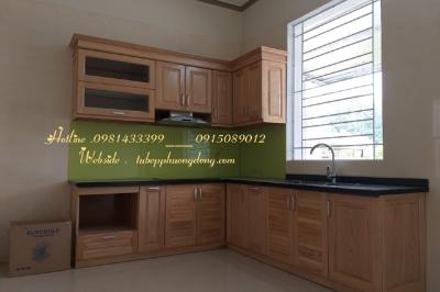 Tủ bếp gỗ Sồi Nga - PD10