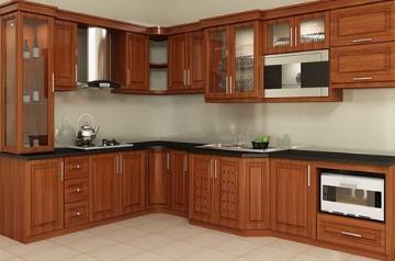 Tủ bếp gỗ Xoan đào - PD57