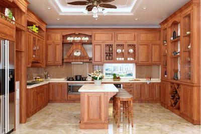 Tủ bếp gỗ Gõ đỏ - PD10