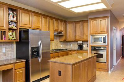 Tủ bếp gỗ dổi - PD15
