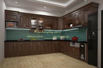 Tủ bếp gỗ Sồi Nga - PD44