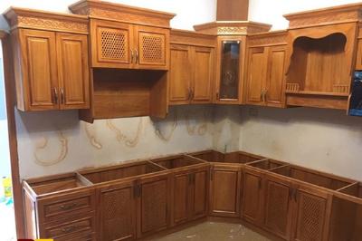 Tủ bếp gỗ Gõ đỏ - PD12