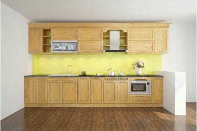Tủ bếp gỗ Sồi Nga - PD19