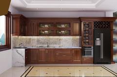 Tủ bếp gỗ Xoan đào - PD13
