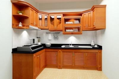Tủ bếp gỗ Xoan đào - PD60