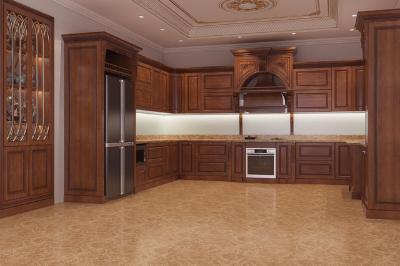 Tủ bếp gỗ Gõ đỏ - PD13