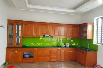 Tủ bếp gỗ Sồi Nga - PD50