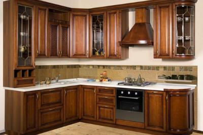 Tủ bếp gỗ dổi - PD17