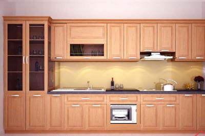 Tủ bếp gỗ Sồi Nga - PD13