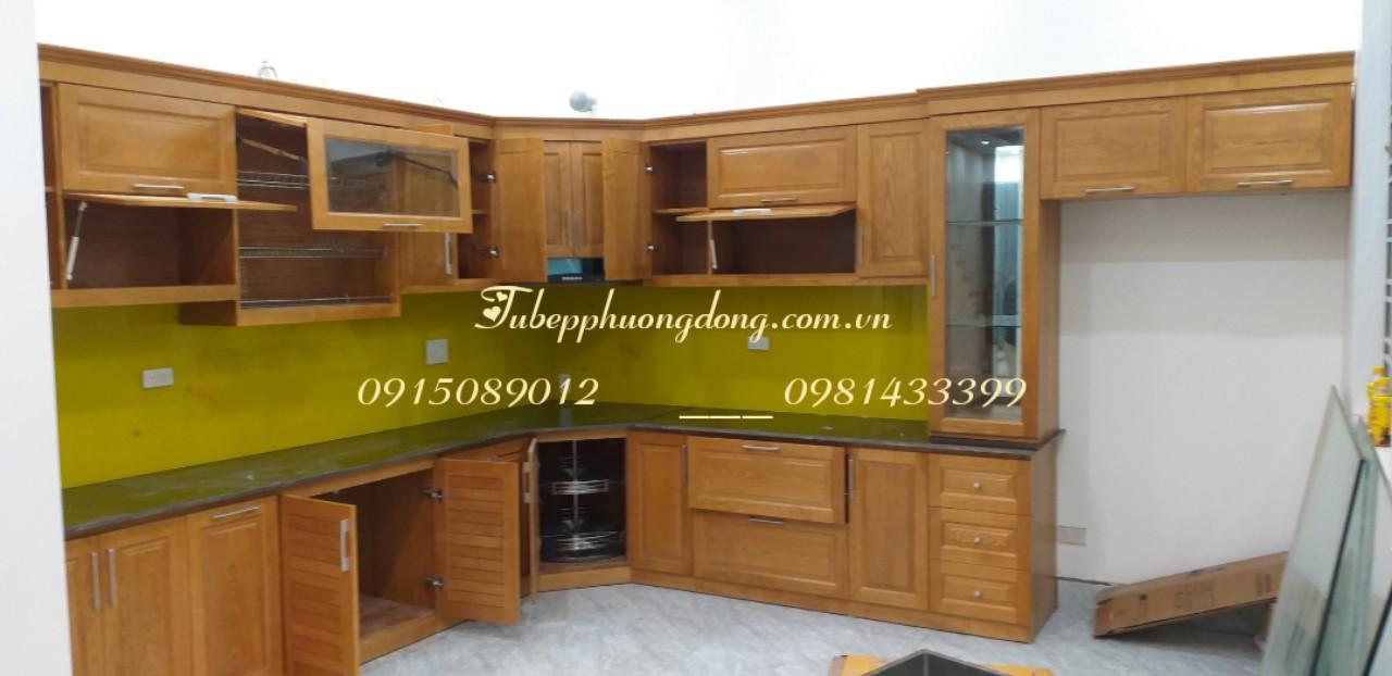 Tủ bếp gỗ Sồi Nga - PD47