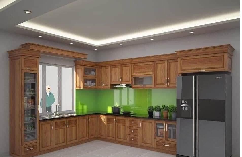 Tủ bếp gỗ Xoan đào - PD18