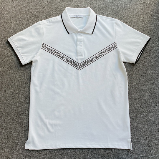 Áo Polo Givenchy Paris in ngực - Trắng