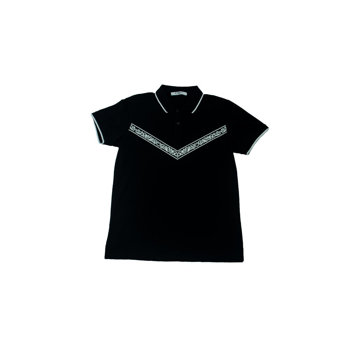 Áo Polo Givenchy Paris in ngực - Đen