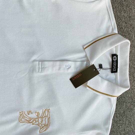Áo Polo Versace thêu ngực - Trắng