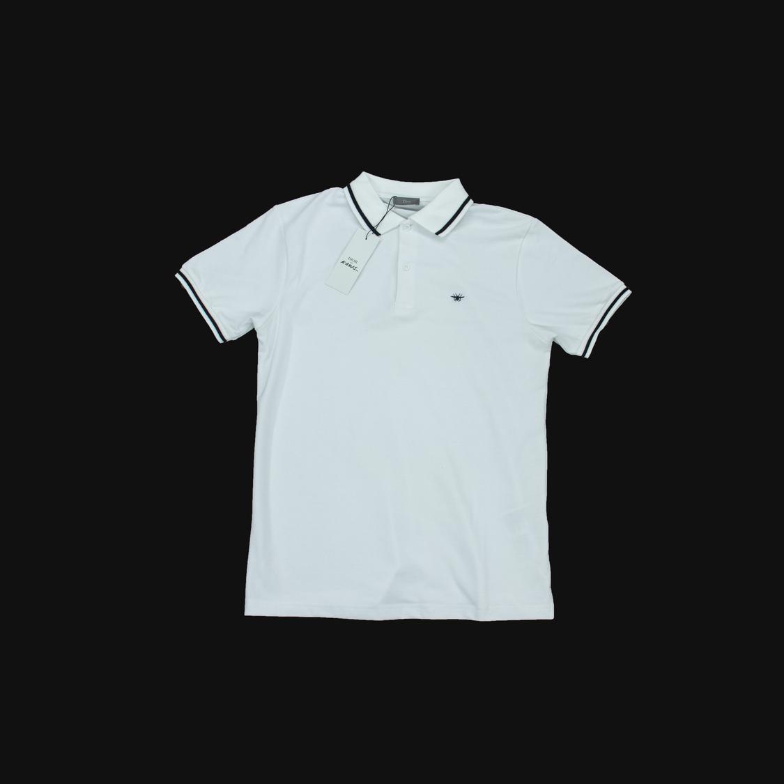 Áo Polo Dior ong nhỏ - trắng