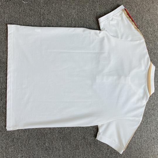 Áo Polo Gucci viền vai - trắng