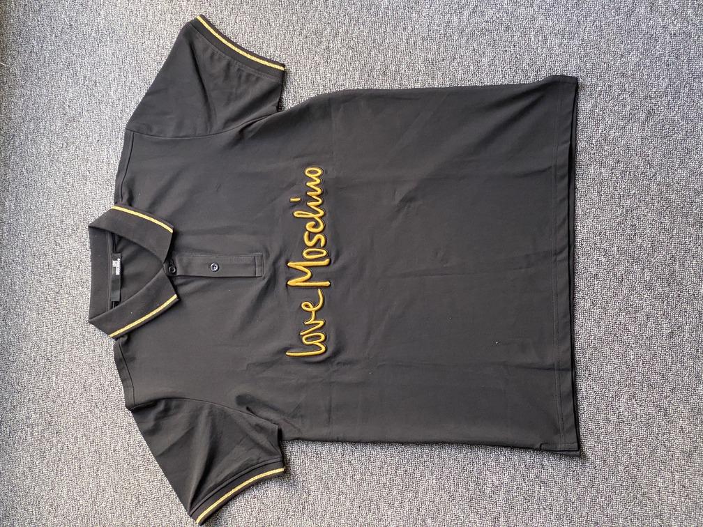 Áo Polo Love Moschino đen