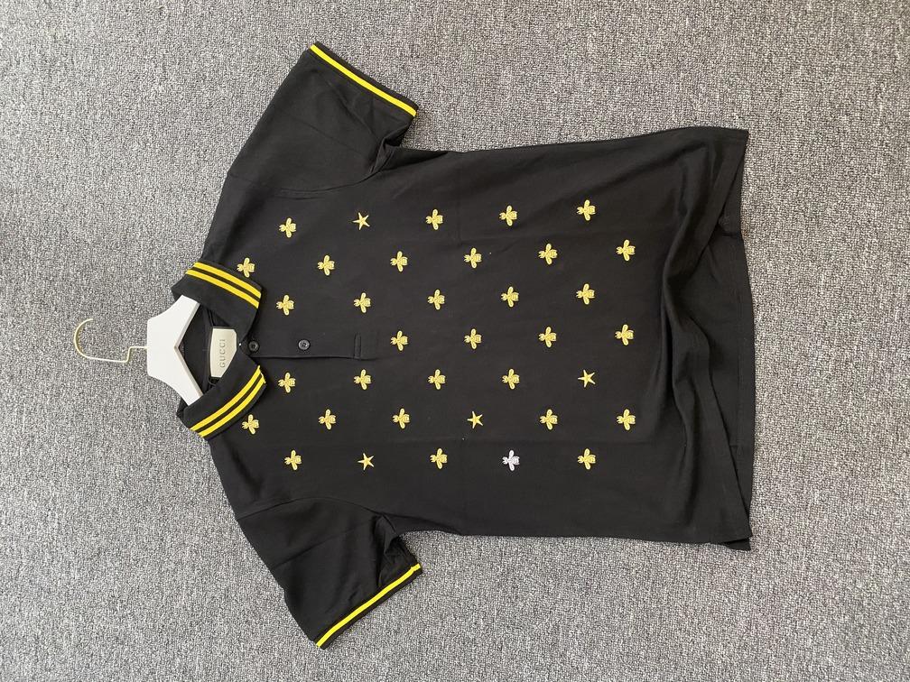 Áo Polo Gucci thêu ong - đen