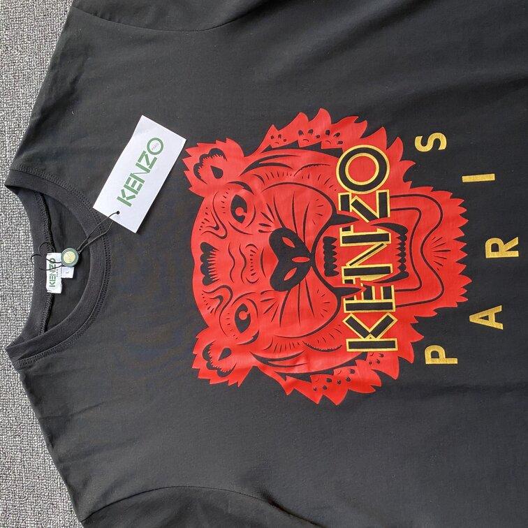 Áo phông Kenzo hổ đỏ - đen