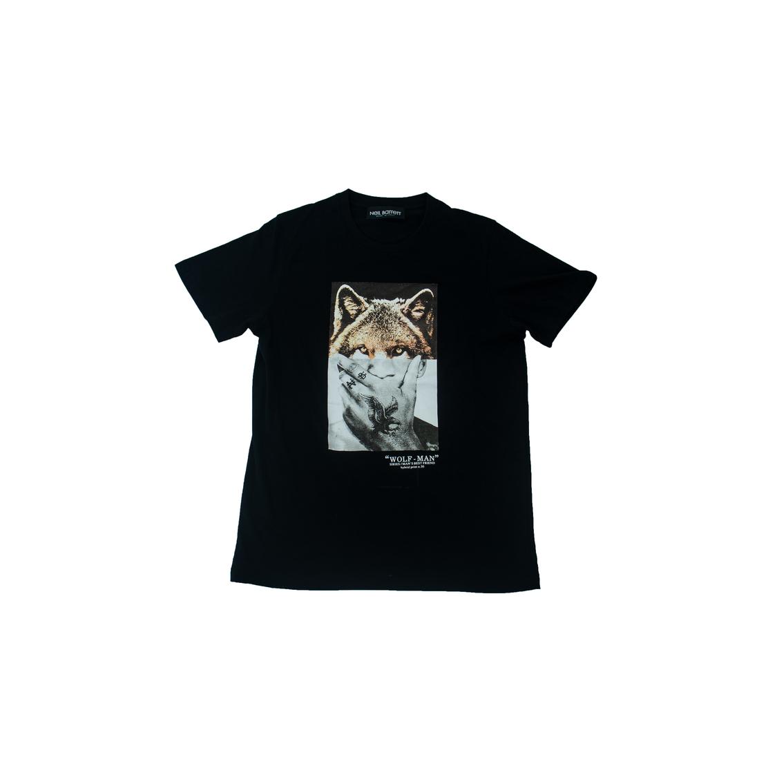 Áo phông Neil Barrett sói - Đen