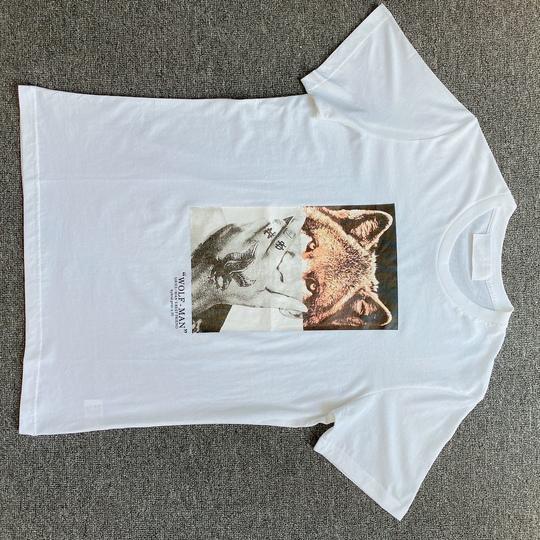 Áo phông Neil Barrett hình chó - trắng