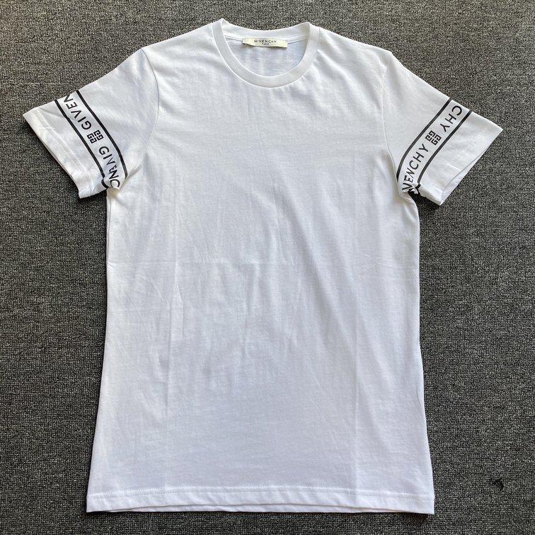 Áo phông Givenchy Paris chữ tay - trắng