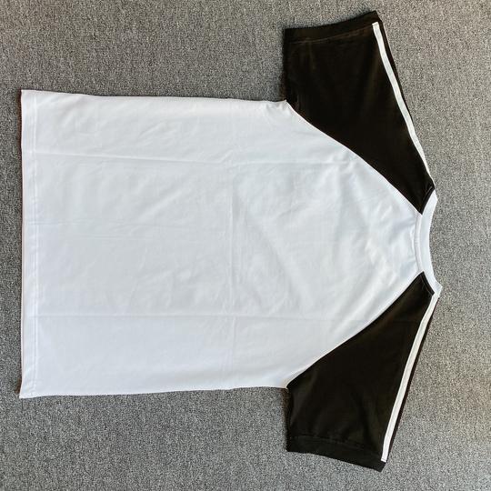 Áo phông Adidas tay đen - trắng