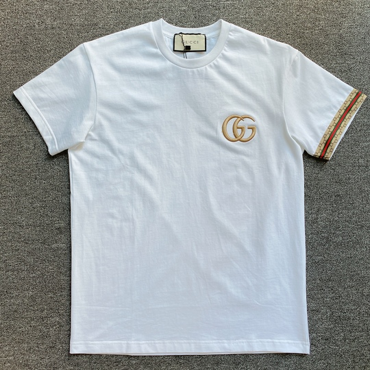Áo phông Gucci viền tay - Trắng
