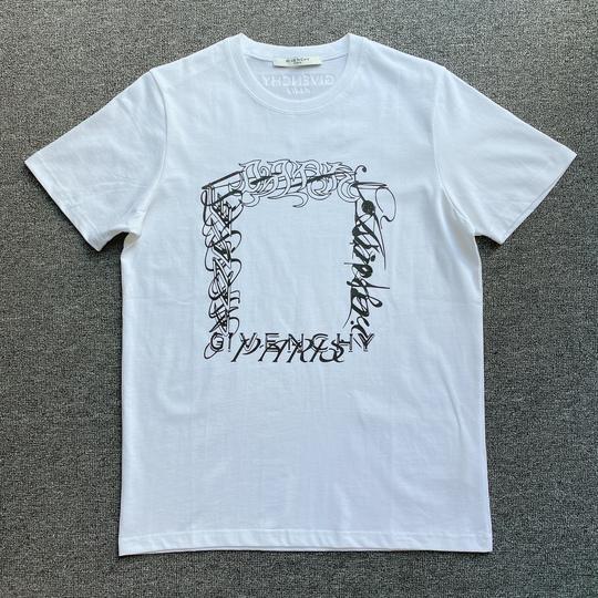 Áo phông Givenchy Paris chữ ô vuông - Trắng