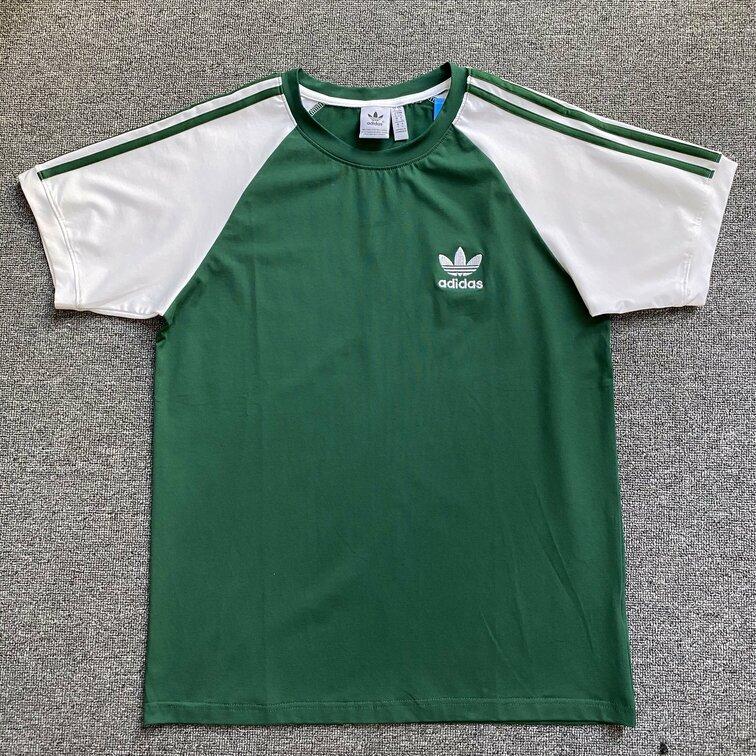 Áo phông Adidas tay đen - xanh lá