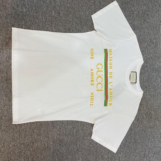 Áo phông Gucci in chữ ngực - trắng