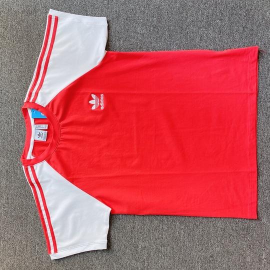 Áo phông Adidas tay trắng - đỏ