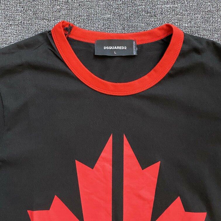 Áo phông Dsquared2 lá phong - đen