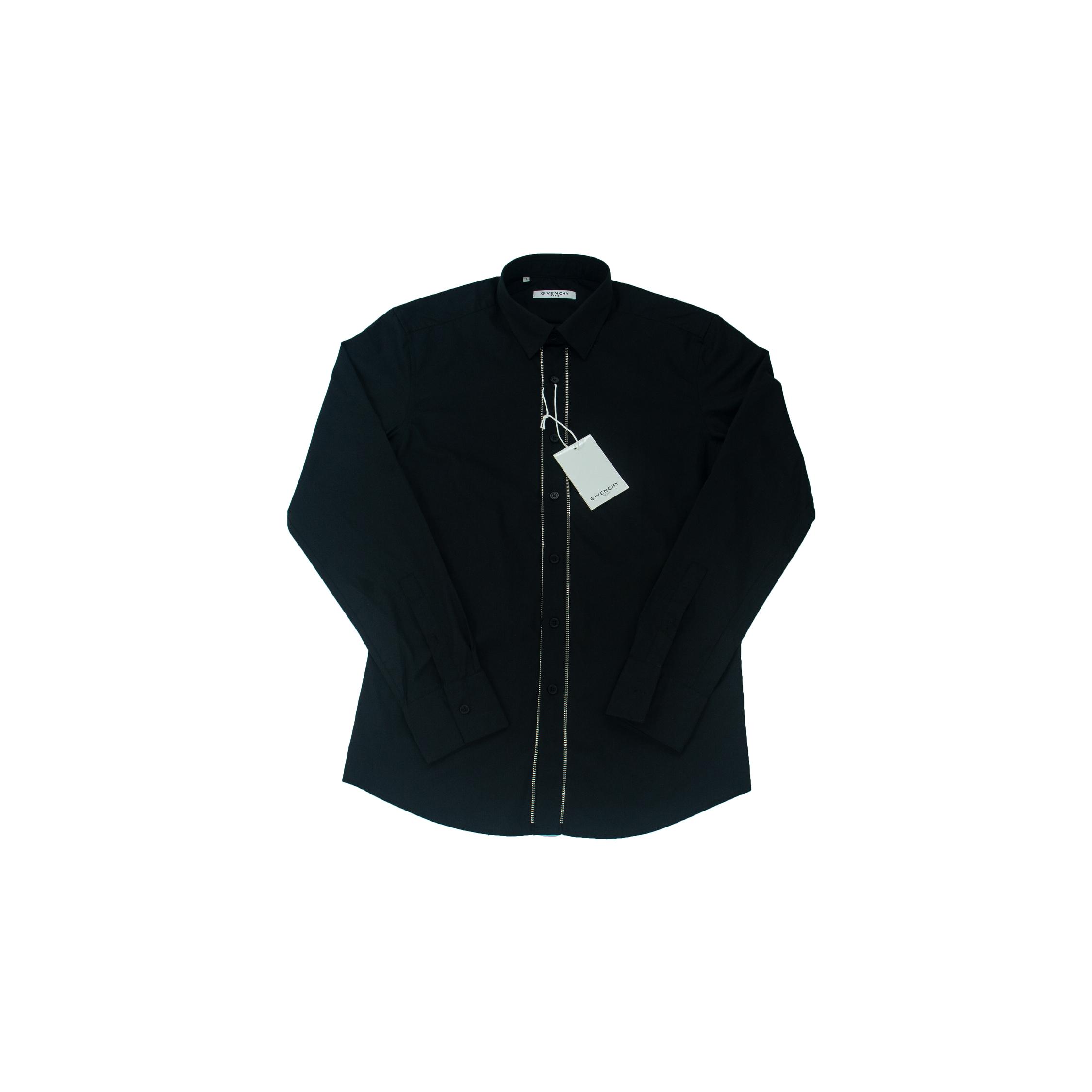 Áo sơ mi dài tay Givenchy Paris 2 khóa - đen