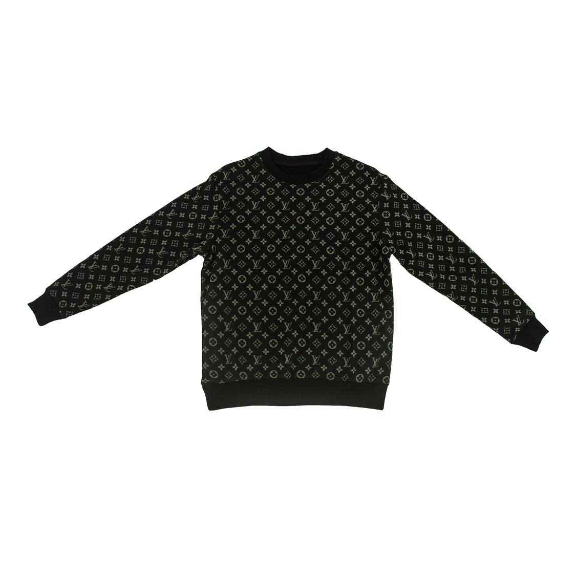 Áo nỉ Louis Vuitton lưới - đen