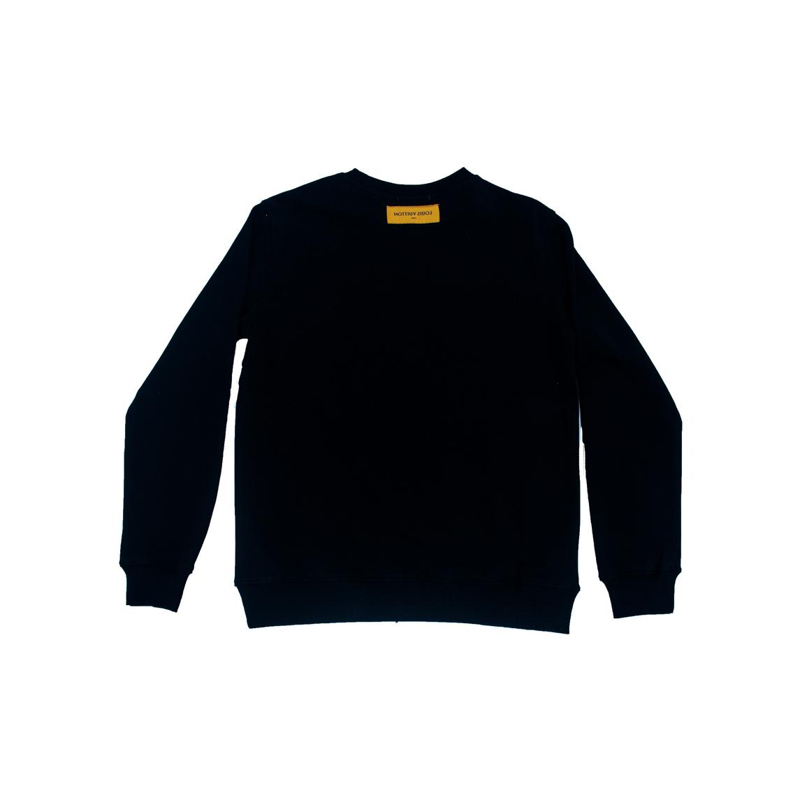 Áo nỉ Louis Vuitton forever hoa - đen