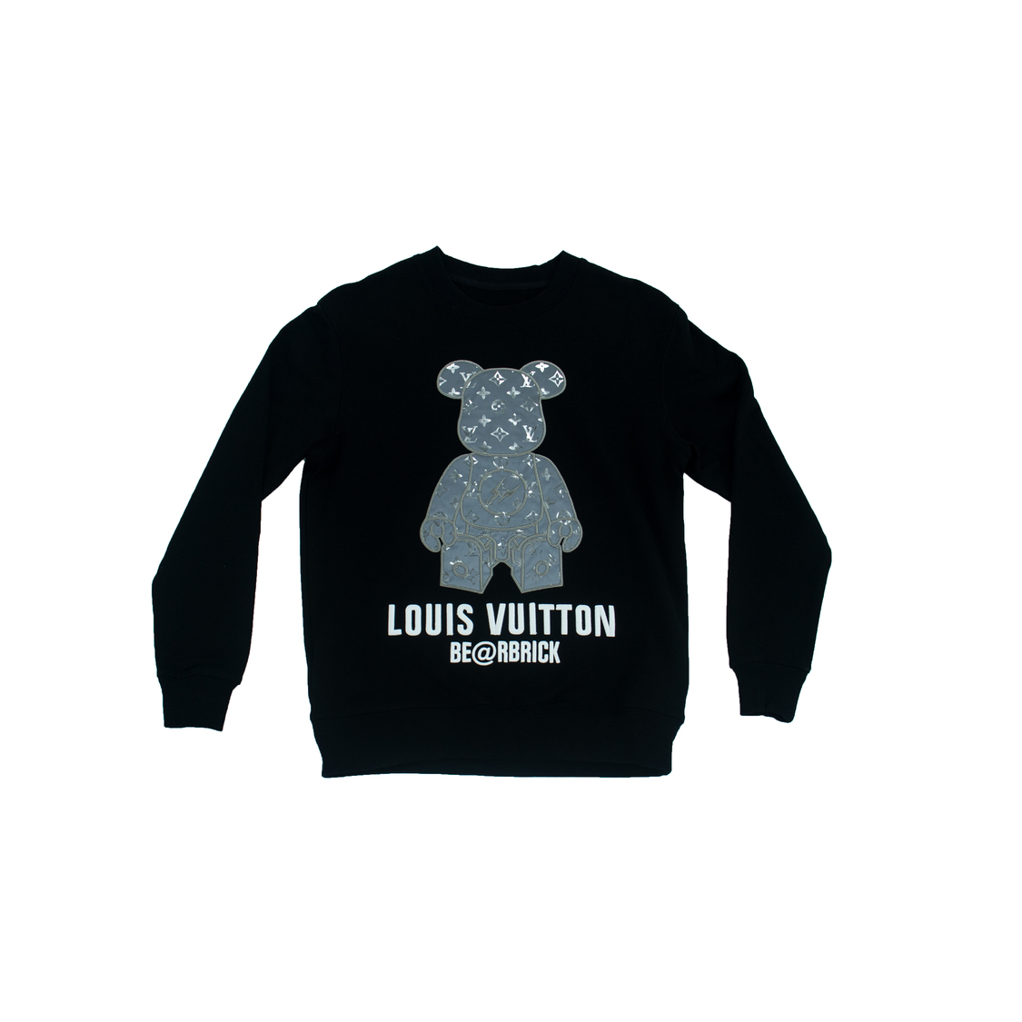 Áo nỉ Louis Vuitton Be@rbrick gấu - đen