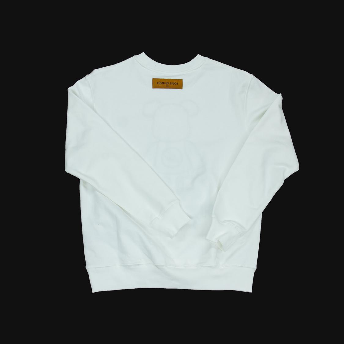 Áo nỉ Louis Vuitton Be@rbrick gấu - trắng