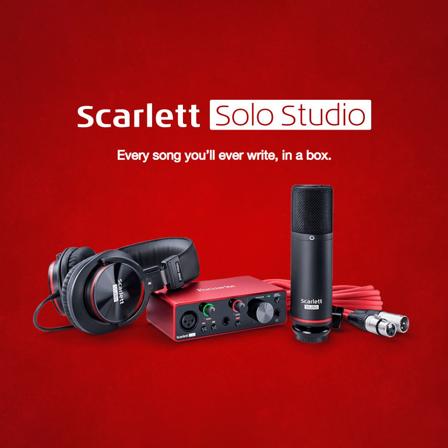Focusrite Scarlett Solo Studio Pack (3rd Generation) Interface